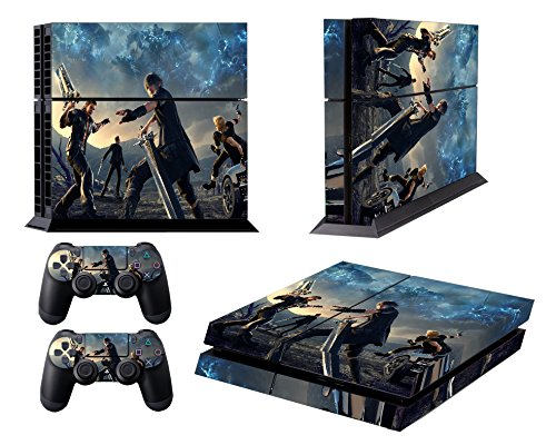 EBTY-Dreams Inc. - Sony Playstation 4 Original (PS4 Original) - Final Fantasy XV (FFXV) Video Game Noctis, Gladiolus, Ignis & Prompto Vinyl Skin Sticker Decal Protector