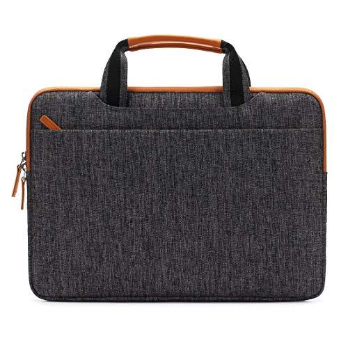 DOMISO 12,5-13 Zoll Wasserdicht Laptop Tasche Aktentasche Tragetasche Schultertasche mit USB Ladeanschluss für Apple 13