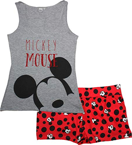 Minnie Mouse Woman Short Pajamas Grey