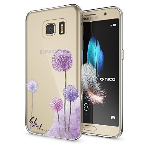 NALIA Handyhülle kompatibel mit Samsung Galaxy S7, Slim Silikon Motiv Case Hülle Crystal Schutzhülle Dünn Durchsichtig, Etui Handy-Tasche Back-Cover Transparent Bumper, Motiv:Dandelion Pink
