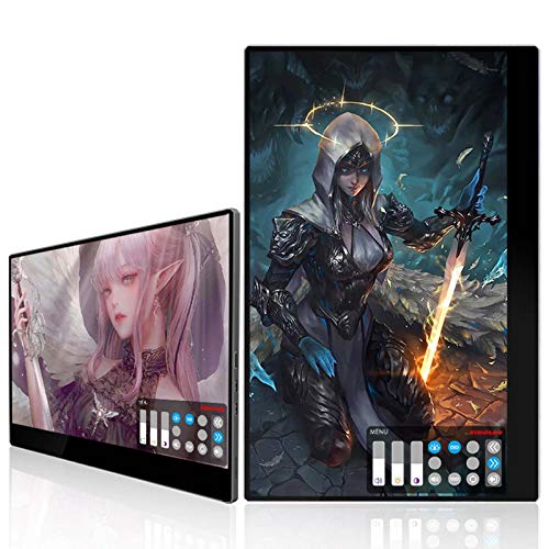 MUYEY Portable 15.6-inch gaming monitor, ultra clear 4K 3840 X 2160 60 Hz touch screen display Built-in battery with mini HDMI interface, Suitable for PC, SWITCH, PS4, Xbox phones Etc.
