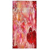 Candi-Shop Happy Valentine's Day Hearts Print Toallas De Mano Decorativas para El Hogar, Muy Absorbentes, para El Baño, El Hotel, El Gimnasio Y El SPA