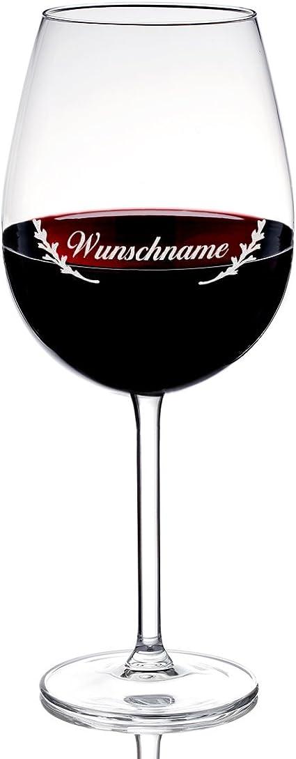 Copa de vino con grabado gratuita, 590 ml Glas: Amazon.es: Hogar