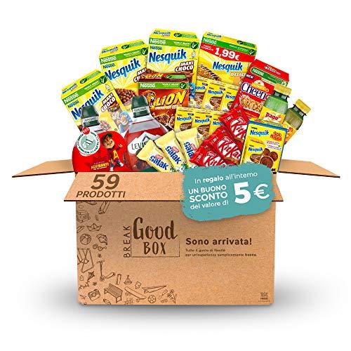 Nestlé Break Good Box Confezione Assortita Di Bevande E Succhi Di Frutta, Snack Al Cioccolato E Barrette Di Cereali (59 Prodotti), 59 x 4396 g
