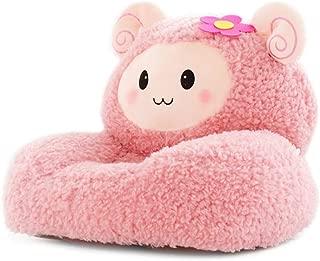 DBSCD Children s Sofa Mini Children Plush Chair for Sheep Cartoon Soft Room Living Room-Pink 54x45cm  21x18inch
