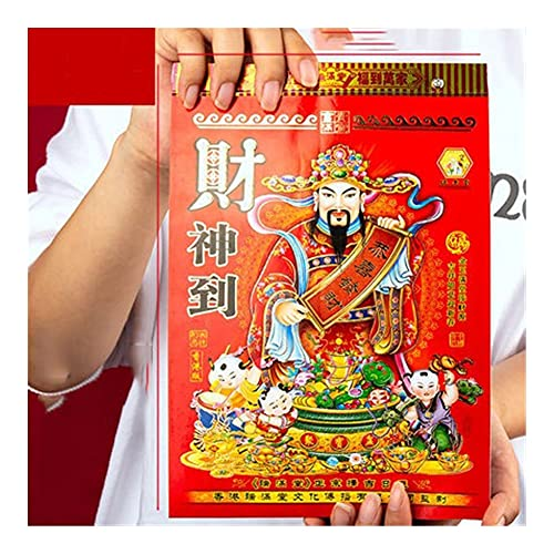 TUQYED Monthly Daily Planner Calendar 2022 Hand Tearing Traditional Home Auspicious Chinese Calendar Wall Lucky Annual Calendar Year of The Tiger Planning Calendar (Color : 16K)