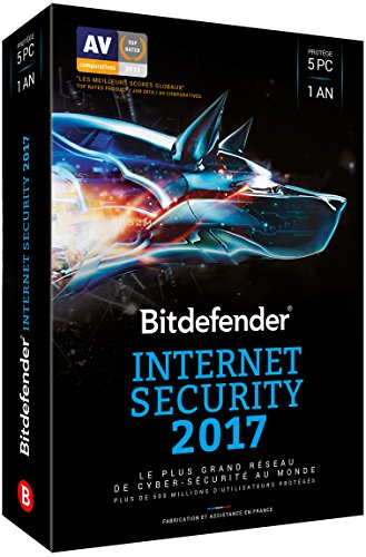 Bitdefender Internet Security 2017 (5 appareils, 1 an)