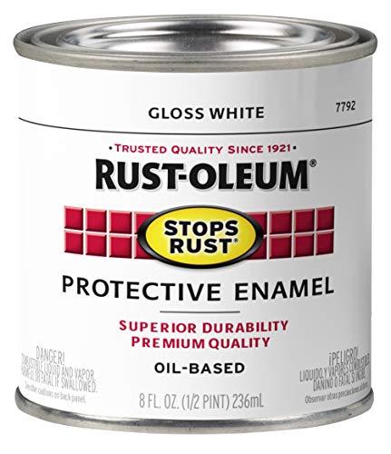 Rust-Oleum 7792730-6PK Stops Rust Brush On Paint, Half Pint (6 Pack), Gloss White