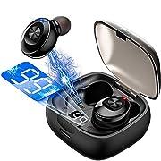 #LightningDeal TWS Wireless Bluetooth Headset Sport in Ear Earphone Mini Stereo Sound IPX5 Waterproof with Power Display Charging Case XG8