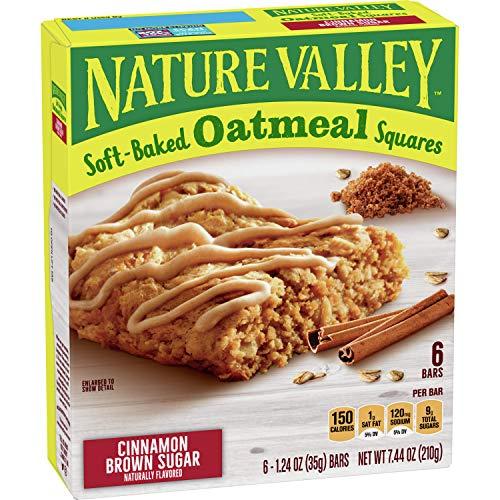 Nature Valley Soft-Baked Oatmeal Squares Cinnamon Brown Sugar, 6 ct, 7.44 oz