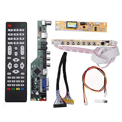 xingxing Antriebsmodul T.V53.03 Universal LCD LED TV Controller Treiber Board TV/PC/VGA/HDMI/USB + 7 Tasten + 2CH 6bit 30pin LVDS-Kabel + 1 Lampe Wechselrichter Antriebsmodul