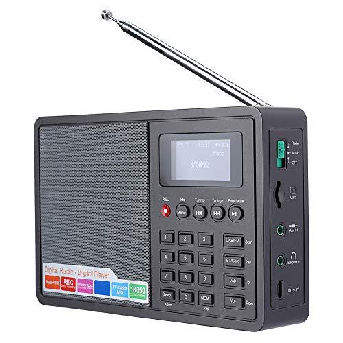 Bluetooth FM Radio, Tragbarer Digitaler DAB + FM (RDS) Radio Musikplayer mit 1000mAh Akku, Support Clock/Alarm/Sleep Timer mit Zeitsicherung