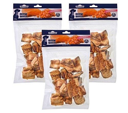 Dehner Premium Hundesnack, Lachs Nuggets, 3 x 90 g (270 g)