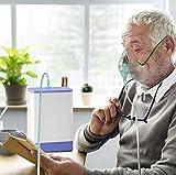 YLEI Concentrador de oxígeno portátil para el hogar y los Viajes. 1-3L / min Generadores de máquinas de oxígeno Ajustables 30% de Alta pureza Máquina concentradora de O2 para el hogar