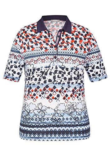 Rabe Damen Poloshirt mit Mustermix und unifarbenem Kragen