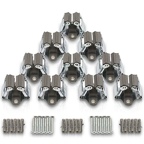 griseo Wandhalter Set für Gartengeräte - 10 Werkzeughalter als praktische Wandhalterung - Gerätehalter Set - Stielhalter und Halterung für Besen, Rechen, Spaten und co - Halter für Gartenwerkzeug