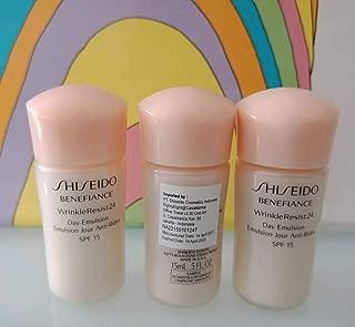 Shiseido Benefiance Wrinkle Resist 24 Day Emulsion Sunscreen 15 ml x 3 = 45 ml