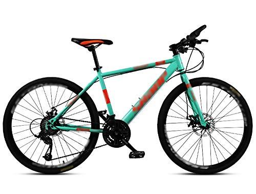 Bicicleta de Carretera para Adultos, Bicicleta de Carreras para Hombres con Freno de Doble Disco, Bicicleta de Carretera con Marco de Acero de Alto Carbono, Bicicleta de Ciudad (C,24 inches/21 Speed)