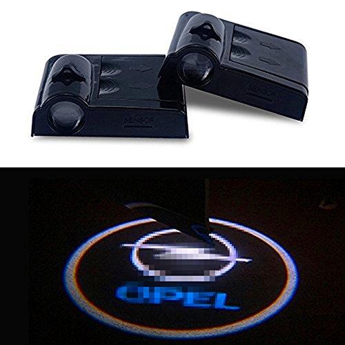 ATK 2 x kabellose Einstiegsbeleuchtung für die Autotür mit Ford-Logo