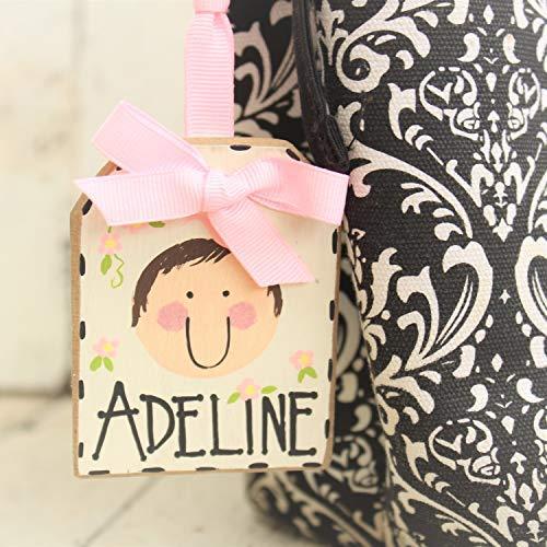 Ced454sy Gift Luiertas Tag Baby Meisje Tas Tag Gepersonaliseerde Baby Meisje Gift Baby Naam Teken