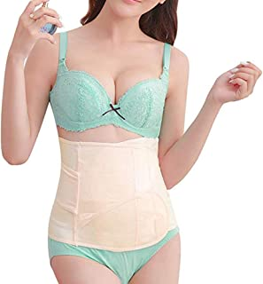DHINGM Postpartum Support Recovery Belly Belt Body Shaper Corset Belt with High Elastic for Women and Maternity Recovering from Birth, Waist Trainer Belts (Size : S)
