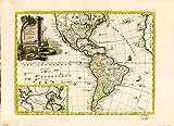 Historic 1787 Wall Map - Amerika, st nor ashkharhagrakan znnuteants : poragreal i Vntik i Vans Srboyn Ghazaru i tuis merum 1236, 1787. 36in x 24in