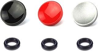 LXH 3-pak (czerwony czarny srebrny) 11 mm aparat metalowy wklęsły kształt migawki przycisk zwalniający migawki do Fujifilm...