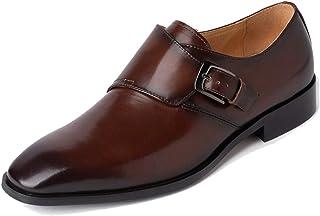 MINITOO Mens Monk scarpe classiche in pelle Business formale Oxfords JD2020-1