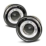 ACANII - For 2005-2010 Jeep Grand Cherokee Clrar Lens LED Halo Projector Fog Lights Driving Lamps Assembly Left+Right