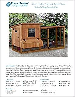 Backyard Chicken Coop Plans with Kennel / Run, Modern / Lean-to 4 ft x 10 ft Two-in-One Plans, Design 60410ML