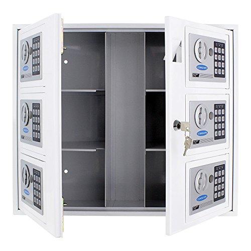 Rottner Schlüsselausgabesystem Marie Weiss, Ideal für Hotels, Autohäuser, Hausverwaltungen oder Garagen, mit Notöffnungsschloss inkl. Befestigungsmaterial