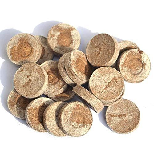 HOMAL Kokosnuss Quellenflocken mit Nährstoffen, die zum Pflanzen von Kokosnussflocken, zur Aussaat von Erde, gepresster Kokosnusserde und ohne Torf verwendet Warden (50)