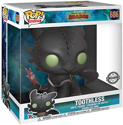 """Funko- Pop Movies: How To Train Your Dragon 3-Toothless 10"""" Figura da Collezione, Multicolore, 36619"""