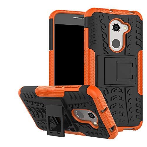 LFDZ Alcatel A3 Tasche, Hülle Abdeckung Cover schutzhülle Tough Strong Rugged Shock Proof Heavy Duty Hülle Für Alcatel A3 Smartphone (mit 4in1 Geschenk verpackt),Orange