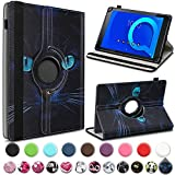 UC-Express Alcatel 1T 10 Tablet Hülle Tasche Schutzhülle Hülle Schutz Cover 360° Drehbar 10.1 Zoll Etui, Farbe:Motiv 10