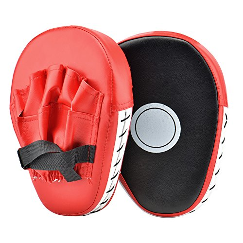 Queta 1 Paar PU Boxer Claw Foot Kick Pads für Muay Thai Karate Taekwondo Martial Arts MMA (RedII)