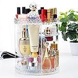 HopeU5 Makeup Organizer, 360 Grad Einstellbare Schmuck Kosmetik Parfüm Display Ständer Box, 360x280 MM Multi-Layer Große Kapazität Make-Up Lagerung Für Kommode, Schlafzimmer, (Round)