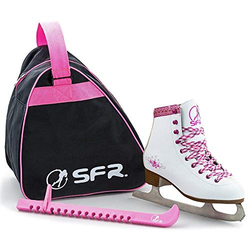 Sfr Skates SFR Junior Ice Skate Pack para Patines sobre Hielo, Unisex niños, Blanco, 33