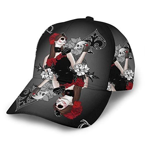 Inaayayi Gorra de béisbol Queen of Spades con diseño de...