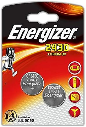 LOT DE 2 PILES ENERGIZER CR2430 - 1 BLISTER DE 2 - LITHIUM 3V