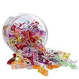 Craft Clips Craft accesorios para costura tejer ganchillo,Accesorios de Costura Clips de Artesanía Establecidos para Bordado/Costura/Ganchillo/Bricolaje, 9 Colores -Mezcla de colores_100 piezas/caja