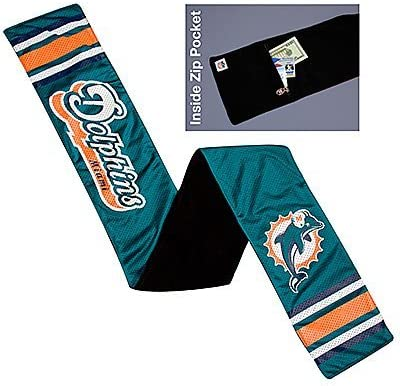 Littlearth NFL Miami Outlet SALE half Dolphins Jersey Team Color Scarf 60