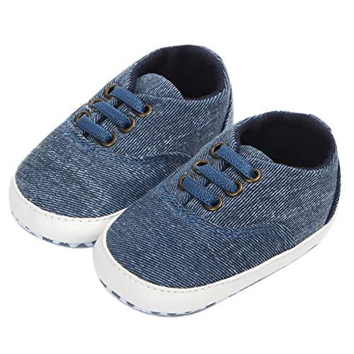Geagodelia Moda para bebé o niña, suela blanda, zapatos de cochecito blancos,...