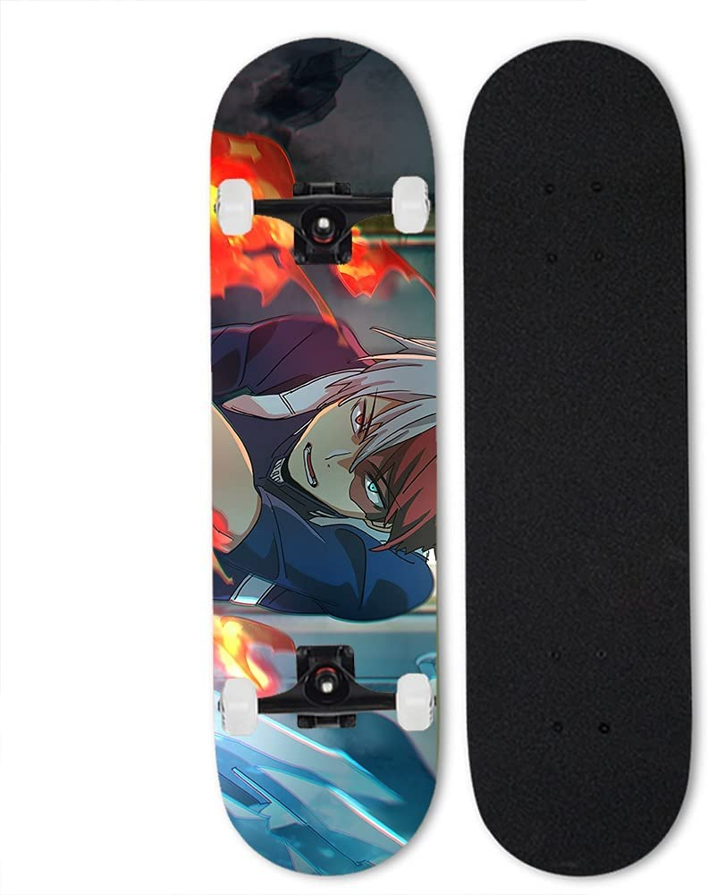 Max 88% OFF Totots Anime Skateboard for My Four-W Tilt Hero Double Year-end gift Academia