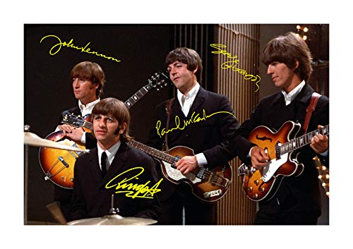 Jo Hole Prints The Beatles (5) Poster mit Autogramm, Reproduktion, A4 Ungerahmt.