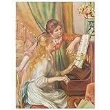 JUNIWORDS Poster, Pierre Auguste Renoir, Junge Mädchen am