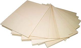 Okume - Láminas de madera en bruto de contrachapado multicapa, 10 x 4 mm