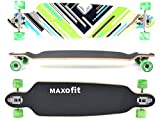 MAXOfit Deluxe Longboard Charisma Green No. 64, Drop Through/Drop Down, 101 cm, 9 Strati...