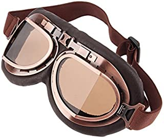 MUXSAM Helmet Steampunk Vintage Goggles Sunglasses Eyewear for Outdoor Sports Motocross Racer