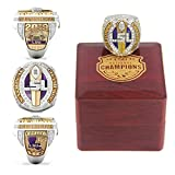 N/H 2019 LSU National Championship Replica Ring with Box Size 14 Christmas Ornament Gifts for Men Kids Women Youth